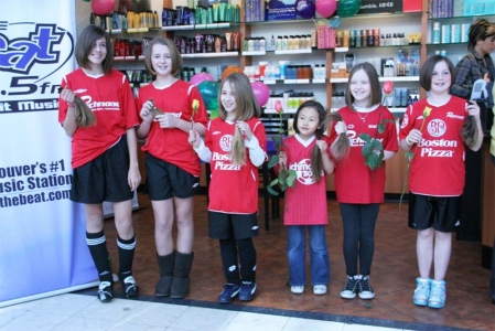 Members of the Richmond Girls Soccer