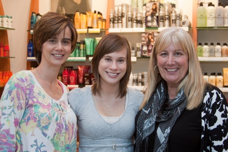 "Suzanne and Megan McNeil with Bev Friesen at the 2011 Hennessey Hair ""Do""."