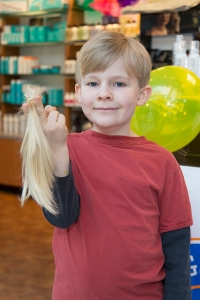 "Noah Epting donated his hair at the 2013 Hennessey Hair ""Do""."